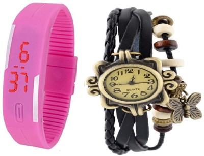 Elios Fashionable Combo Analog Watch  - For Girls, Women
