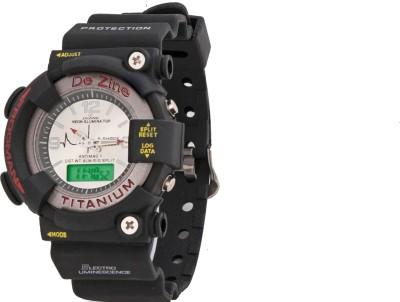 Dezine DZ-GR0001-WHT-SPRT Analog-Digital Watch  - For Men