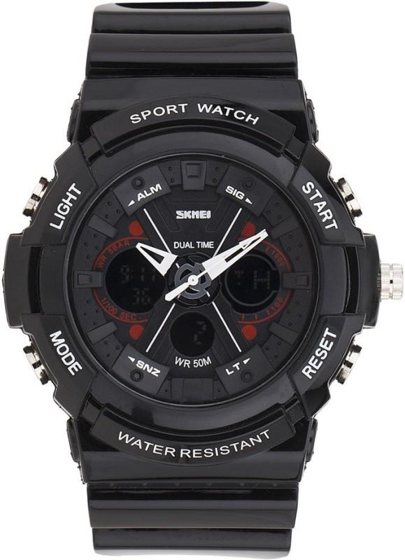 SKMEI SKMEIA0966 BLACK RED Analog Analog Digital Watch For M