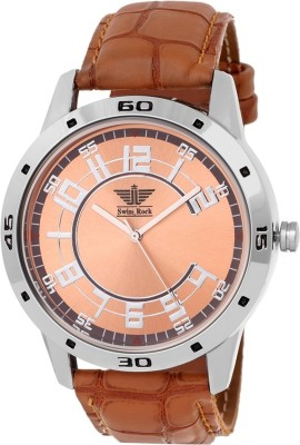 Swiss Rock Spark Brown Analog Watch  - For Men, Boys