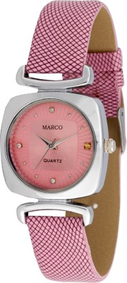 Marco MR-LSQ075-PNK-PNK Marco Analog Watch  - For Women