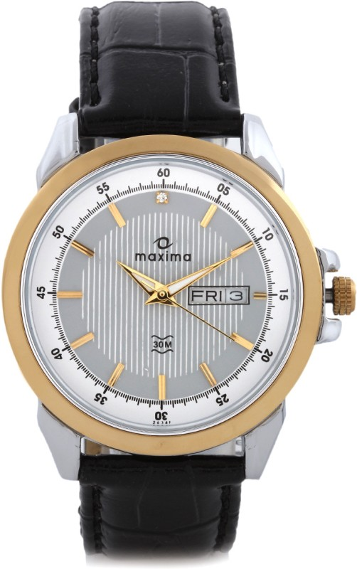 Maxima 26341LMGT Gold Analog Watch For Men