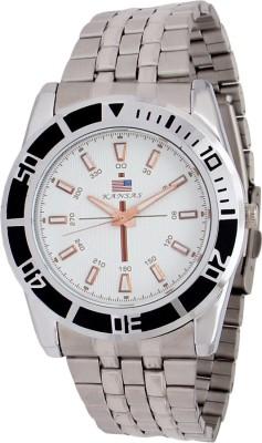 Kansas KAN-SS-024-WHT-CPR Analog Watch  - For Men
