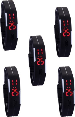 vency creation Led Black Combo5 Digital Watch  - For Boys