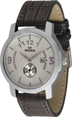 Marco MR-GR062-SLV-BRW CHRONO Marco Analog Watch  - For Men