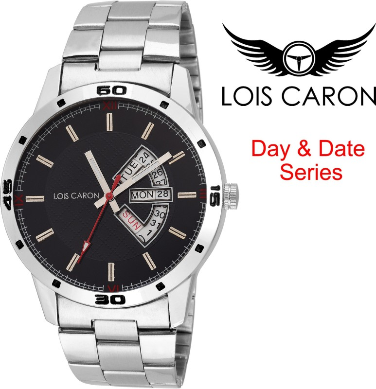 Lois Caron LCS 4114 BLACK DAY DATE SERIES Analog Watch For M