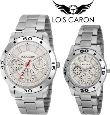 Lois Caron LCK-4051+4515 COUPLE ANALOG Analog Watch  - For Couple