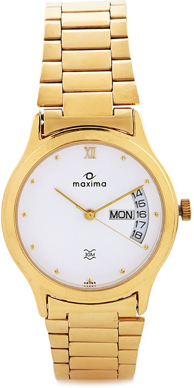 Maxima 06365CMGY Gold Analog Watch For Men