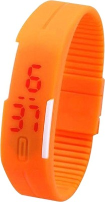 Pappi Boss Unisex Silicone Casual Led Bracelet Band Digital Watch - For Boys, Girls, Men, Women