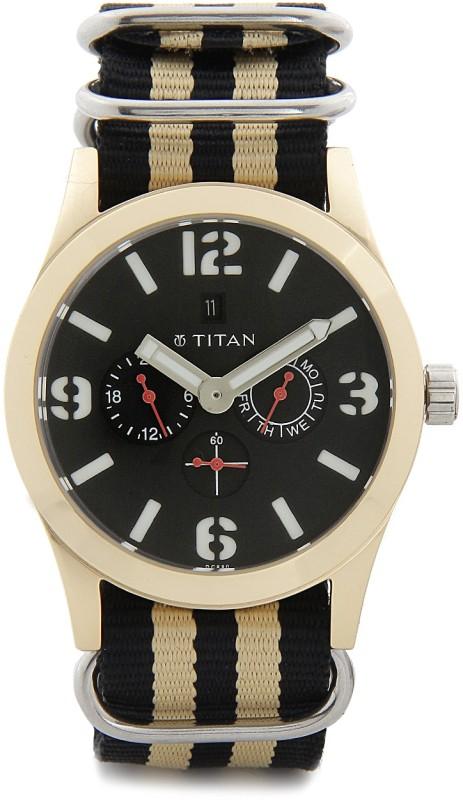Titan 9473AP01J Purple Analog Watch For Men