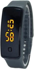 RBS online Trading Company Grey _Bravo_LED Digital Watch - For Men & Women