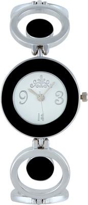 Excelencia WW-12-Silver-BLK Black Grace Analog Watch  - For Women