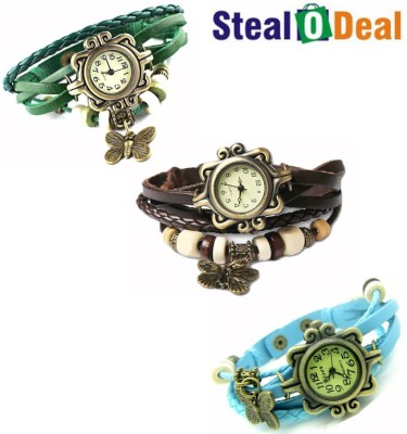 Stealodeal Beautiful Colors Butterfly pendant Rakhi Butterfly Analog Watch  - For Boys, Couple, Girls, Men, Women