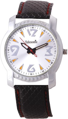 Telesonic TRSM-07 (Silver) Office Time Analog Watch  - For Men