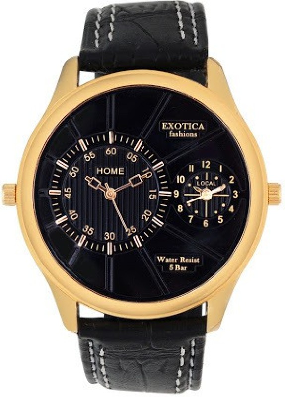 Exotica Fashions EF 71 Dual LS Gold Black Basic Analog Watch F