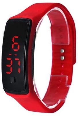 Swiss Rock Band-Gls-Red Digital Watch  - For Boys