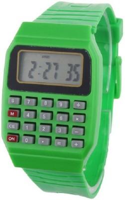 Pappi Boss Unisex Green Calculator Digital Watch - For Boys, Men, Girls, Women