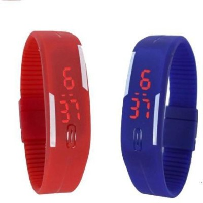 i-gadgets Silicon Led Red And Blue Digital Watch  - For Men, Boys