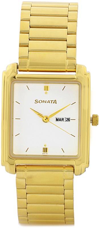 Sonata NG7053YM04A Grant Analog Watch For Men