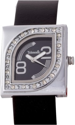 Telesonic EYERWF-02 (Black) Analog Watch  - For Women