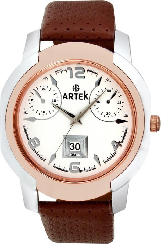 Artek 4014 SILVER COPPER Analog Watch For Men