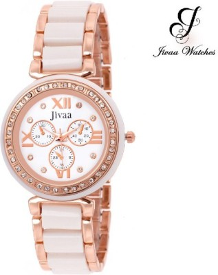 Jivaa JV_6913 White-Copper Fluoresce Collection Analog Watch  - For Girls, Women