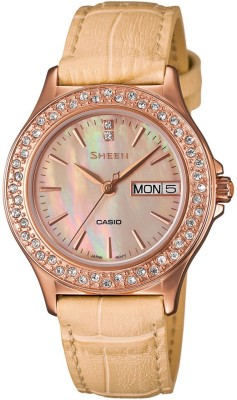 Casio SX104 Sheen Analog Watch  - For Women