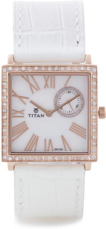 Titan 9961WL01J Purple Analog Watch For Women