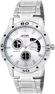 Oxter Silver Creative Modest Analog Watch  - For Men