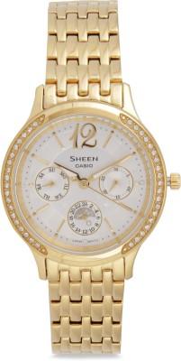 Casio SX086 Sheen Analog Watch  - For Women