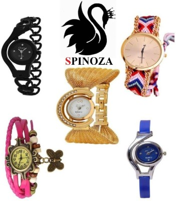 SPINOZA glory fancy beautiful multicolor set of 5 watches Analog Watch  - For Women