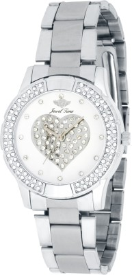 Jewel Time JT-LR1001-WHT-CH Vox Analog Watch  - For Women