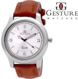 Gesture 5056-SL-BR Modest Analog Watch  ...