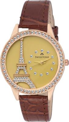 Swisstone JEWELS-LR211-GOLD Analog Watch  - For Women, Girls