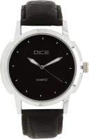 Dice Dcmlrd38ltblkblk030 Dome Analog Watch  - For Men