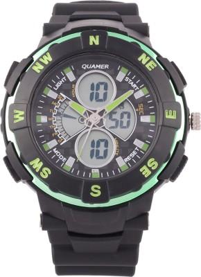 Quamer Sd-1316_grn-Blk Fashion Analog-Digital Watch  - For Men