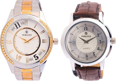 Perucci PC-701-W & PC-226 Regular Analog Watch  - For Men