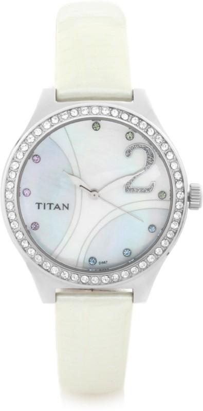 Titan NC9744SL03 Purple Analog Watch For Women