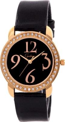 Gesture Gesture Elegant 8025-Bk-Gold Watch For Women Elegant Analog Watch  - For Women