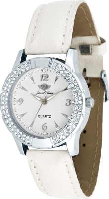Jewel Time JT-LR1002-WHT-WHT Vox Analog Watch  - For Women