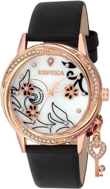 Exotica Fashions EFL 700 Black RG Analog Watch For Women