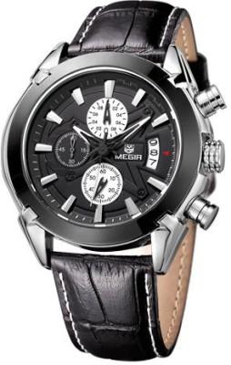 Megir MG-2020-Blk Analog Watch  - For Men