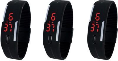 CSM Digital LED Watch Black - 3 Digital Watch  - For Boys, Girls