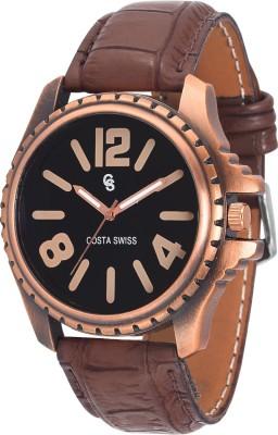 Costa Swiss CS-4004 Sub-Aquatic Copper Analog Watch  - For Boys, Men
