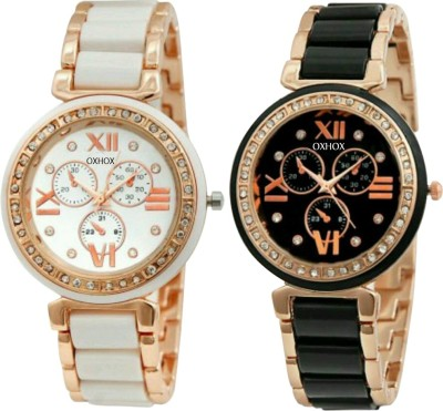 Oxhox Chronograph pattern Analog Watch  - For Girls, Women