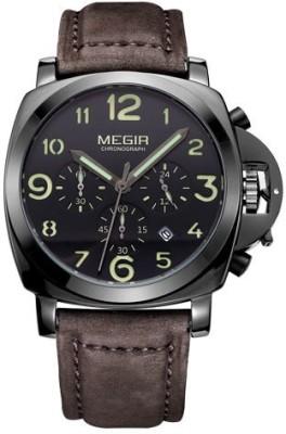 Megir 3406-Black Analog Watch  - For Men