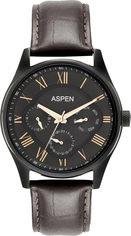 Aspen AM0095 Ionic Black Plated Analog Watch For Men