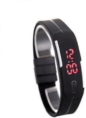 Killys Led Rubber Magnet Black Colour Digital Watch  - For Boys