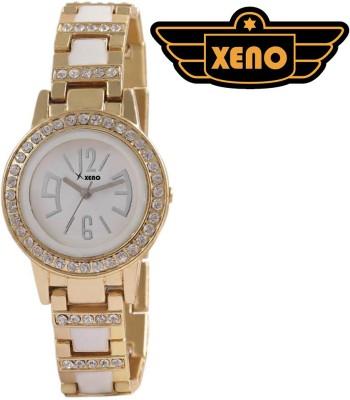 Xeno ZDRE000242 Diamond Studded Gold Metal Women Analog Watch  - For Women, Girls