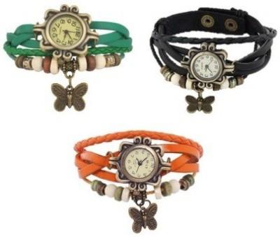 PRS FS4678 Leather Strap, Vintage Watch Analog Watch  - For Girls, Women